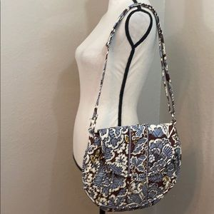 Vera Bradley brown and blue shoulder bag